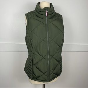 Tommy Hilfiger | army green puffer vest